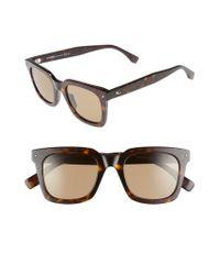 Fendi - Brown 49mm Sunglasses - Dark Havana for Men - Lyst