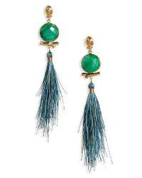 Gas Bijoux - Green Serti Bella Drop Earrings - Lyst