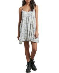 Volcom - White Thx It's A New Dress Babydoll Dress - Lyst