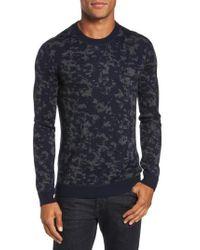 Ted Baker   Blue Gelato Jacquard Sweater for Men   Lyst