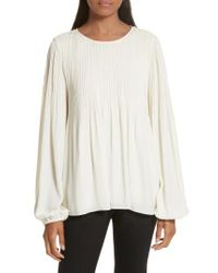 Elizabeth and James | White Grove Pleated Blouse | Lyst