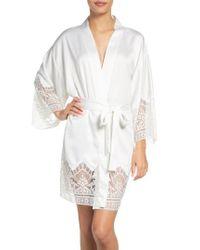 Flora Nikrooz - White Genevive Short Robe - Lyst