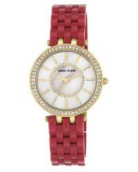 Anne Klein - Metallic Bracelet Watch - Lyst
