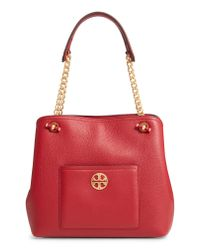 Tory Burch - Red Chelsea Slouchy Leather Shoulder Tote Bag - Lyst
