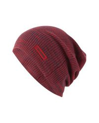 Converse | Red Twisted Waffle Knit Cap for Men | Lyst