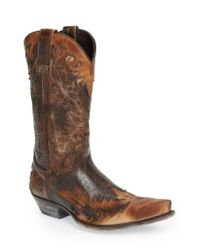 Sendra - Brown 'carson' Cowboy Boot for Men - Lyst