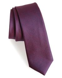 Calibrate   Pink Pop Dot Silk Skinny Tie for Men   Lyst