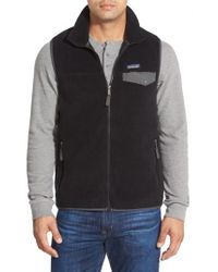 Patagonia - Black 'synchilla Snap-t' Zip Fleece Vest for Men - Lyst