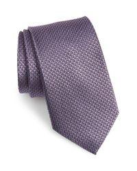 Nordstrom Purple Solid Silk Tie for men