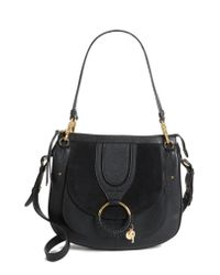 See By Chloé - Black Hana Leather Shoulder Bag - Lyst