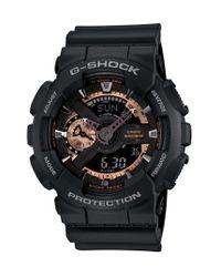 G-Shock   Men's Analog Digital Black Resin Strap Watch 51x55mm Ga110rg-1a for Men   Lyst