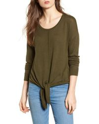 Madewell - Green Modern Tie Front Sweater - Lyst