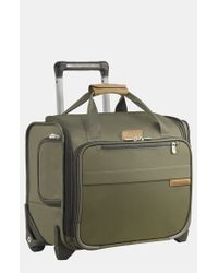 Briggs & Riley | Green 'baseline' Rolling Cabin Bag for Men | Lyst