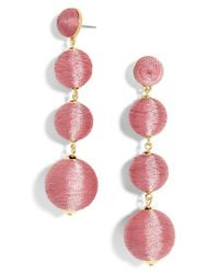 BaubleBar | Pink Criselda Ball Shoulder Duster Earrings | Lyst