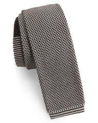 Ted Baker - Multicolor Birdseye Knit Silk Skinny Tie for Men - Lyst