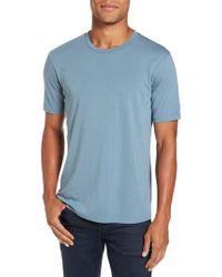 Goodlife - Blue Crewneck T-shirt for Men - Lyst