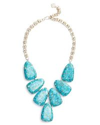 Kendra Scott | Blue 'harlow' Necklace | Lyst