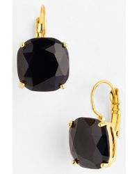 kate spade new york | Black Drop Earrings | Lyst