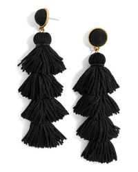 BaubleBar - Black Taylor Tassel Drop Earrings - Lyst