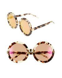 Wildfox - Brown 'malibu Deluxe' 55mm Retro Sunglasses - Lyst