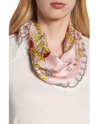 Echo - Pink Coastal Floral Diamond Silk Scarf - Lyst