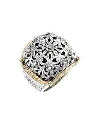 Konstantino - Metallic 'silver & Gold Classics' Filigree Ring - Lyst