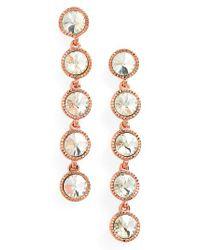 Ted Baker - Metallic Rizza Crystal Drop Earrings - Lyst