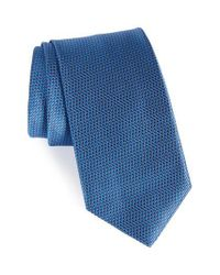 David Donahue | Blue Neat Silk Tie for Men | Lyst
