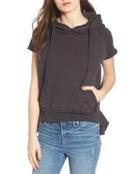 Frank & Eileen - Gray Short Sleeve Pullover Hoodie - Lyst