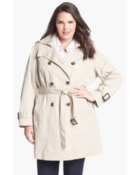 London Fog - White Heritage Trench With Detachable Liner - Lyst