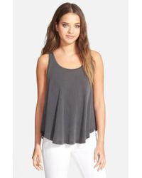 Splendid - Gray Swing Tank - Lyst