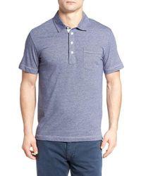 Billy Reid | Blue 'pensacola' Mini Stripe Slim Fit Jersey Polo for Men | Lyst
