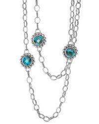 Lagos | Blue 'maya' Long Station Necklace | Lyst
