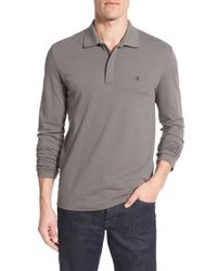 Victorinox | Gray Victorinox Swiss Army Tailored Fit Long Sleeve Zip Polo for Men | Lyst