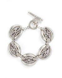 Konstantino - Metallic 'penelope' Cross Link Bracelet - Lyst