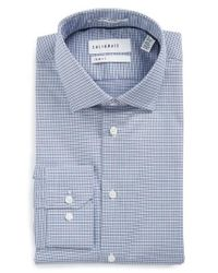 Calibrate - Blue Trim Fit Non-iron Check Stretch Dress Shirt for Men - Lyst