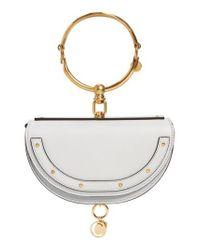 Chloé - Metallic Small Nile Bracelet Calfskin Leather Minaudiere - Lyst