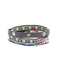 Rebecca Minkoff - Metallic Wrap Bracelet - Lyst