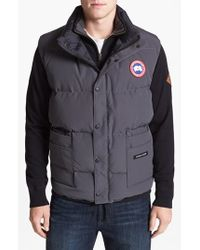 Canada Goose | Gray 'freestyle' Water Resistant Regular Fit Down Vest for Men | Lyst