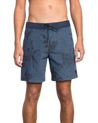 RVCA - Blue Topper Swim Trunks for Men - Lyst