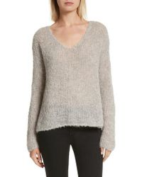 Rag & Bone - Gray Freda Alpaca Blend Sweater - Lyst