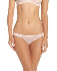 On Gossamer - Multicolor Mesh Thong - Lyst