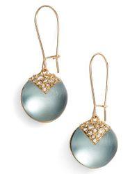 Alexis Bittar - Blue Alex Bittar Crystal Encrusted Lucite Sphere Drop Earrings - Lyst