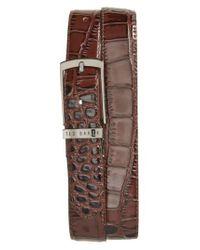 Ted Baker | Brown Sunflow Reversible Leather Belt for Men | Lyst