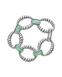 Lagos - Green Maya Fluted Link Bracelet - Lyst
