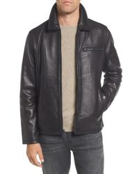 Vince Camuto - Black Leather Jacket for Men - Lyst