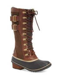 Sorel - Brown 'conquest Carly Ii' Waterproof Mid Calf Boot - Lyst