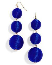 BaubleBar   Blue Crispin Drop Earrings   Lyst