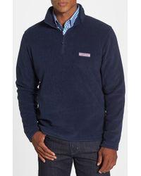 Vineyard Vines | Blue Polartec 100 Fleece Quarter Zip Pullover for Men | Lyst