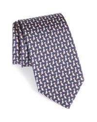Ferragamo | Black Augusto Dog Print Silk Tie for Men | Lyst